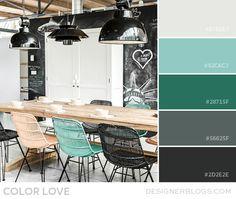 Color Love | Turquoise & Charcoal - DesignerBlogs.com