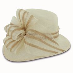 Scala Lacey - Sinamay Dress Cloche from Hats in the Belfry