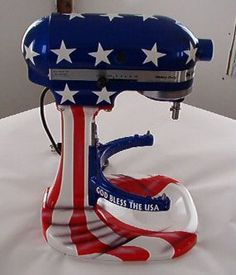 Flag Kitchen Aid. Soooo cool...goes with my tattoo