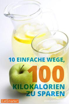 10 einfache Wege, 100 Kilokalorien zu sparen - Wer täglich 100 kcal spart, der nimmt im Jahr etwa 5 Kilogramm ab. Es lohnt sich also, kleine Veränderungen vorzunehmen. | http://eatsmarter.de/abnehmen/abnehmen-ohne-diaet/10-einfache-wege-100-kilokalorien-zu-sparen