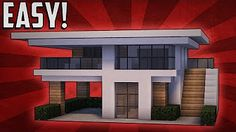 minecraft house tutorial with garage - YouTube