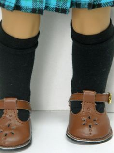 black knee hi socks by Unendingtreasures on Etsy. Made from the Sock It To Me Pattern found here  https://www.pixiefaire.com/products/sock-it-to-me-18-doll-clothes. #pixiefaire #sockittome