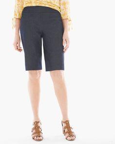 Chico's Women's So Slimming Brigitte Shorts, Indigo, Size: 2 (12 - L)