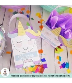Cajitas para imprimir de #unicornio