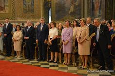 Crown Prince Alexander & Princess Catherine pictured with Prince Leka of Albania, Prince Radu of Romania, Crown Princess Margarita of Romania, Queen Sofia of Spain, Queen Anne Marie of Greece and King Constantine II of Greece