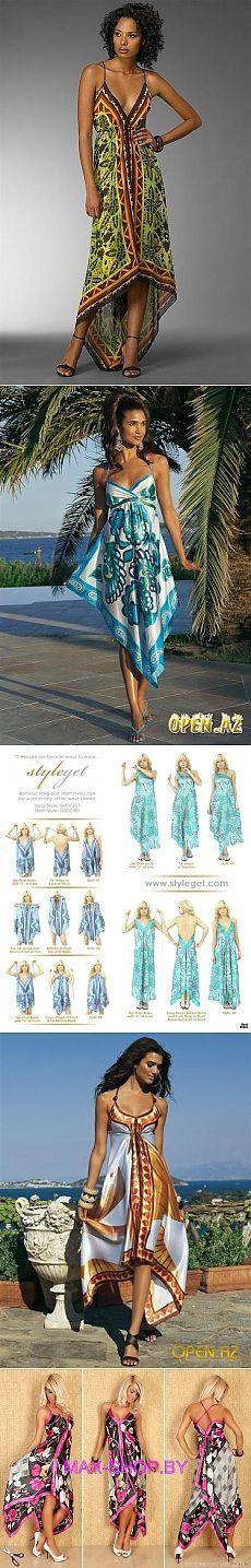Эффектные летние сарафаны и топы шьем из платков — Рукоделие