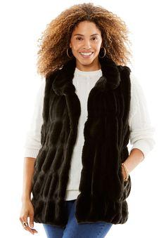 08d9c884b21 Quilted Faux Fur Vest by Donna Salyers Fabulous Furs - Women s Plus Size  Clothing Faux Fur