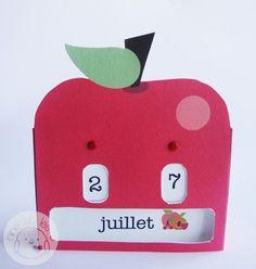 ★ Allo ... Ouïne  Free DIY  calendrier perpétuel en français