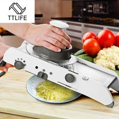 TTLIFE Adjustable Mandoline Slicer Professional Grater with 304 Stainless Steel Blades Vegetable Cutter Kitchen Tools