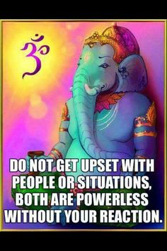 GANESHA: don't give lower to negativity