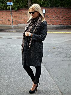 Scarf by Malene Birger, H&M Coat, Zara pumps Malene Birger, Zara, Pumps, My Style, Coat, Winter, Outfits, Fashion, Winter Time