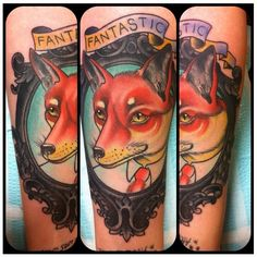 My Fantastic Mr. Fox tattoo, thanks to Colin at Skinquake in Bloomington, IN!!