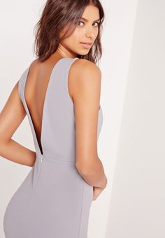 School proms, graduation parties and wedding attire, we've got your back, babe, and this is the ultimate occasion dress! Featuring a universally flattering sexy shade of grey, seductive low back and a maxi length, you'll own the night. Styl...
