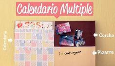 Un organizador para la pared: Pizarra, tablón y calendario