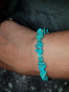 Turquoise healing bracelet  £4.50 plus £2.26 p&p  www.wiccanwonders.co.uk Healing Bracelets, Turquoise, Jewellery, Fashion, Moda, Jewelery, Jewelry Shop, Fashion Styles, Green Turquoise