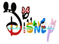 DISNEY Character Word FILLED Machine Embroidery Designs INSTANT DOWNLOAD