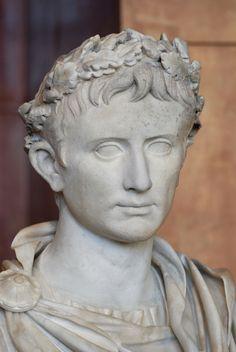Prima Porta, buste d'Augustus, Louvre, sculpture