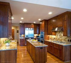 This gourmet kitchen offers extra counter space with this narrow island that doesn't take up valuable walking space. Plan 875-D - The Rockledge. http://www.dongardner.com/plan_details.aspx?pid=2295. #Kitchen #Island #FloorPlan