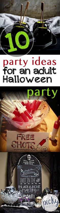 10 Party Ideas for An Adult Halloween Party  Halloween Party Ideas, Adult Halloween Party, Party Ideas for Halloween, Halloween Party DIYs, Halloween Party Decor, Party Decor for Halloween, Party Decor Ideas, How to Throw A Halloween Party
