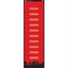Superhero File Storage Pocket Chart With 10 Pockets