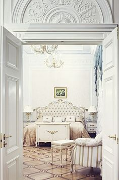 Paris flat. Stunning bedroom!