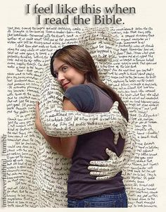 I don't feel like this usually when I read the Bible, but it is interesting art!