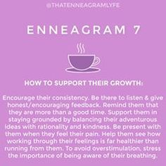 Continuing our series on how to support each type in growth. Sevens, what do you resonate with here? Tag your favorite enneagram seven in… Type 7 Enneagram, Enneagram Personality Test, Infj Personality, Personality Assessment, Learn Something New Everyday, E Type, Mbti, Psychology, Encouragement