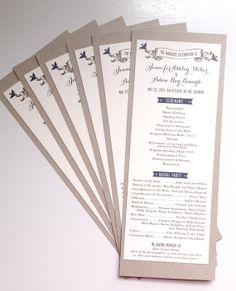 Rustic Chic wedding ceremony programs vintage by TheMemoryTrunk, $3.50