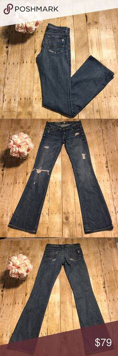 7446aaf220e 7 for All Mankind Boot Cut Jeans-25 Organic cotton bootcut jeans from 7 for