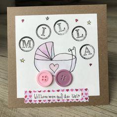 Glückwunschkarten - Glückwunschkarte Geburt Taufe individualisierbar - ein Designerstück von Xenia77 bei DaWanda Wraps, Gift Wrapping, Etsy, Creative, Cute, Gifts, Inspiration, Babys, Blog