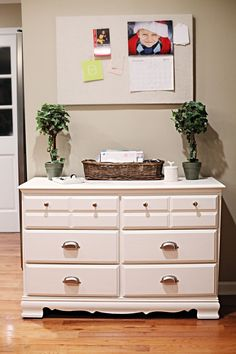 fab DIY Goodwill dresser re-do used as a kitchen buffet