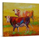Found it at Wayfair - Two Cows by Marion Rose Painting Print on Wrapped Canvas