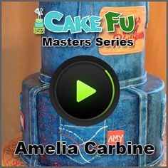 Denim Look on Fondant tutorial - Masters Series Training w/ Amelia Carbine
