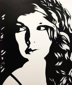 Taylor Swift Black & White Art Canvas Painting