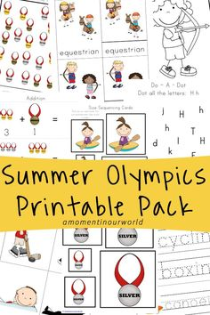 With the Summer Olympics now in full swing in Brazil, I decided to create a fun olympic games printable pack