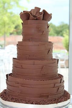 Chocolate Wedding Cake - Wedding at Alnwick Gardens, Northumberland.  www.serenity-photography.com