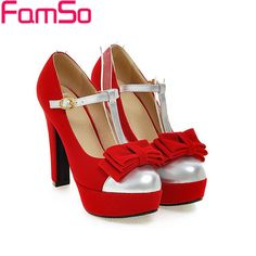 Big Size34 43 2016 New Arrival Women's Pumps Black red High Heels Shoes Fashion…