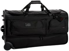 Tumi Alpha Large Wheeled Split Duffel,Black,one size area for shoes