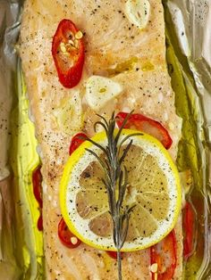 Salmon Parcels.An extremely quick and simple recipe for a beautiful salmon parcel