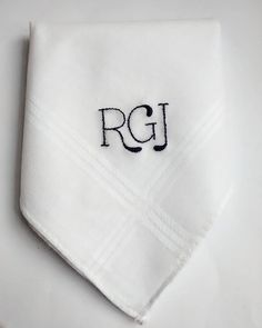 Father of the bride best man Valentine? A monogrammed handkerchief is the perfect gift for the perfect man in your life