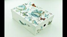 Decoupage paper mache box - Fast & Easy Tutorial - DIY