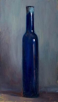 Blue by British artist Julian Merrow-Smith. Follow his Postcard from Provence - a daily diary in paintings,