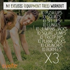 There are no excuses to skip out on fitness this #WorkoutWednesday!