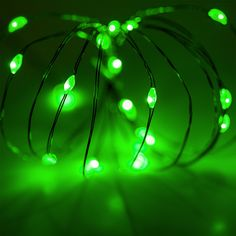Little green battery operated LED lights for St. Patrick's day crafts! These would be fun in the classroom!