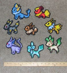 Eevee sprite set by Bladespark on DeviantArt perler,hama,square pegboard,video games,nintendo,pokemon,