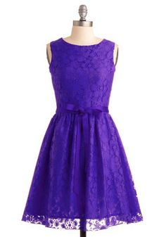 Possible dress for Tiff: Looking Like a Million Dress in Violet, #ModCloth