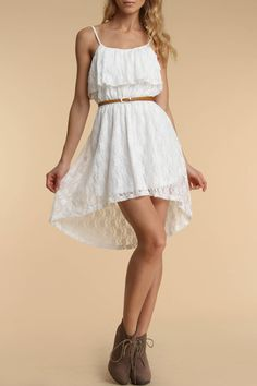 4 Now Fashions Taylor Dress In White - Beyond the Rack