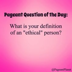 Can you answer this pageant interview question? Try 233 free practice ones here http://thepageantplanet.com/233-practice-pageant-questions/