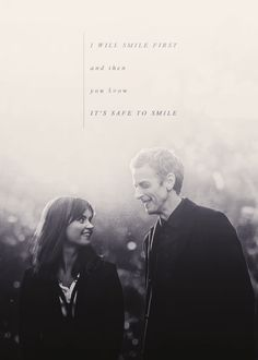 When things change around me, you're my anchor the never changing constant // Clara x Twelve.  <3