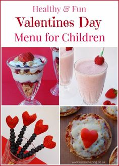 Healthy Valentines Day Food Ideas for Kids - Fun Menu with Kids Breakfast, Lunch and Snack Ideas plus recipes for cooking with kids